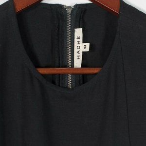 Hache Womens Size 44 Medium Black Linen Dress